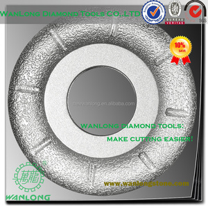 high efficiency vacuum brazed diamond cnc turbine wheel for stone glass and tile grinding