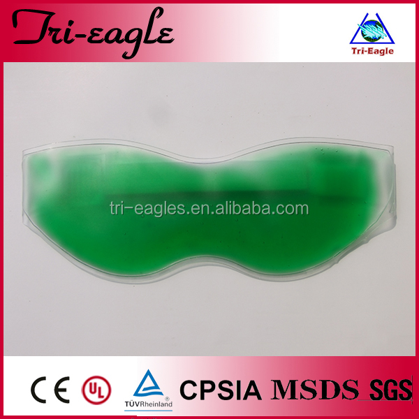 Gel sleeping eye mask for hot and cold use