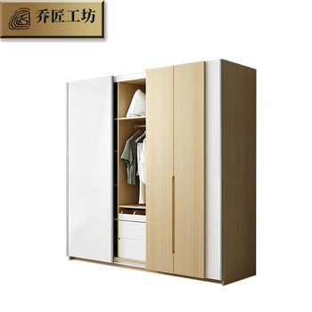 Simple design Closet Wood Bedroom Storage Wardrobe Closet