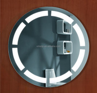 Hotel bathroom Round shape vanity table with lighted mirror makeup mirror