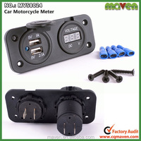 5V 3A Usb Charger Adapter 12v Auto Voltmeter For Scooter Dirt Bike Beach Car MV58024