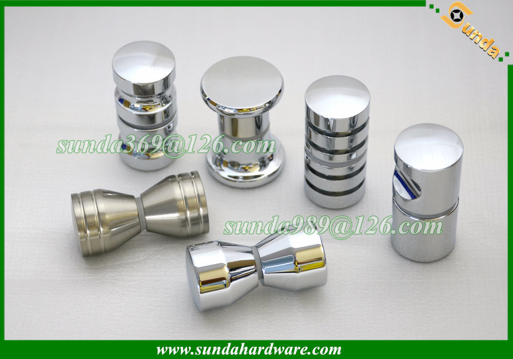 hot sale aluminum glass door knob handle