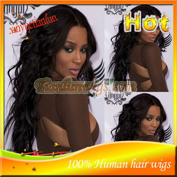 African American Wigs #1B Body wave Brazilian Virgin Human Hair Middle Part Lace Front Wig&Full Lace Wigs For Black Women