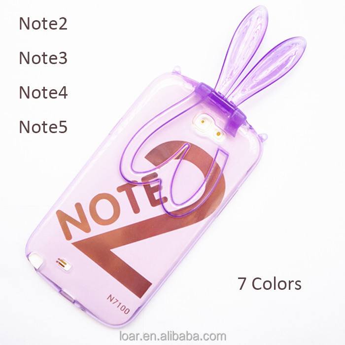 Bunny Kickstand Cover For Samsung Galaxy Note 2 3 4 5 Soft Tpu Case
