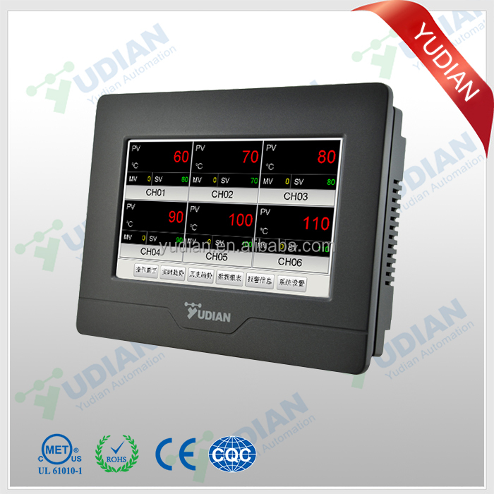 YUDIAN AI-3706M 6 channel touch screen Temperature data logger