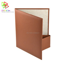 Brown Leather Menu Covers Holder Menu Folder for Restaurant