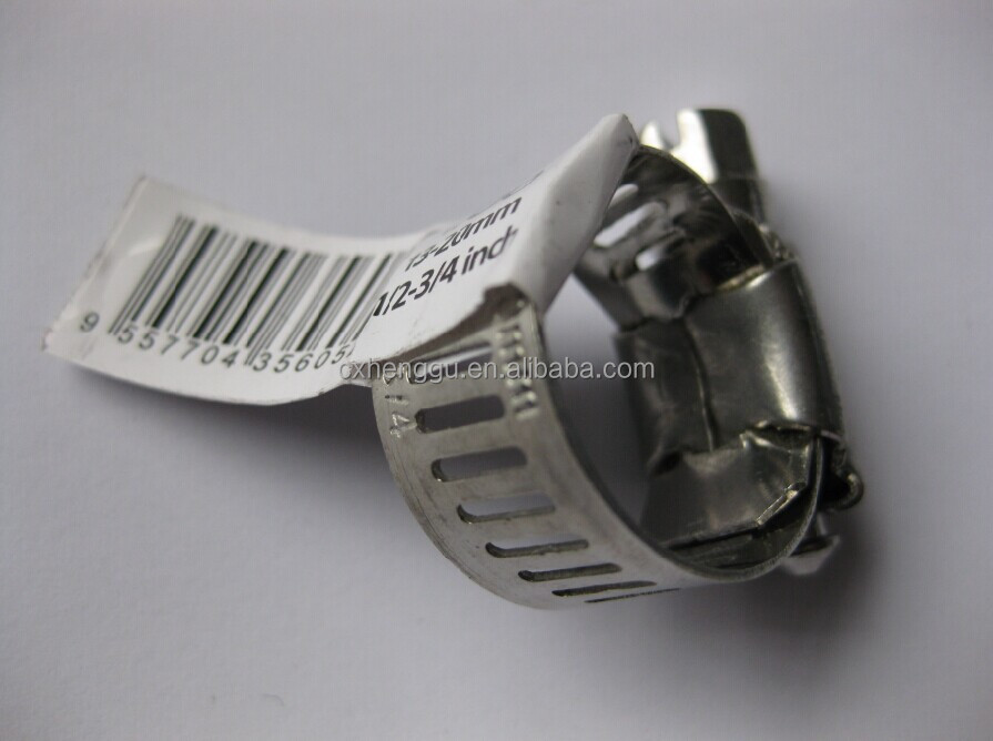 304 Stainless steel American type hose clamp/ Worm drive hose clamp
