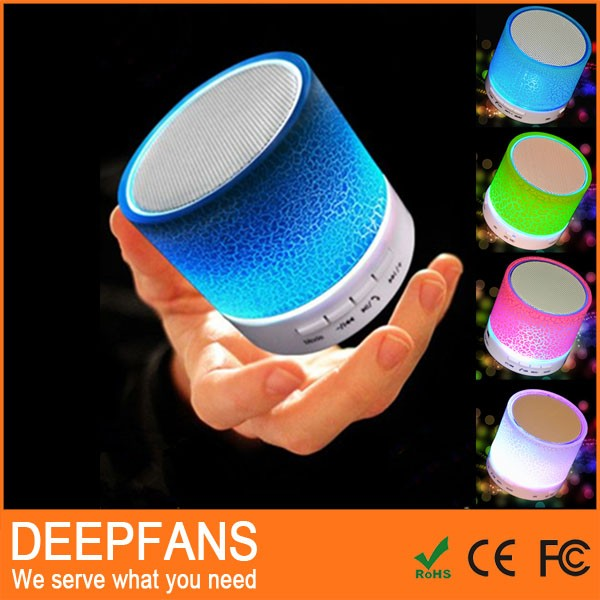 2016 smart mini portable wireless parlante bluetooth speaker best led light stereo hands free speaker for sumsung/iphone