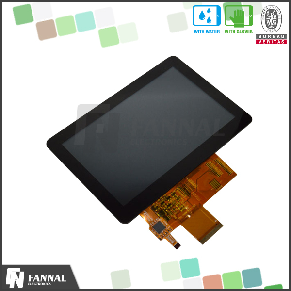 10 million touch WVGA800*480 muti-touch 5 inch lcd touch screen