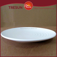 "Wholesale stoneware thread white dinner plate 9.5"" stoneware cookware"