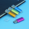 Wholesale Customized USB 2.0 Metal Colorful Gift Memory Flash drive 4GB 8GB For Computer