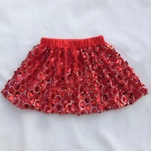The Newest Design Girl Dress Wholesale Kids Clothes Scale Pattern Sequin Baby Skirt