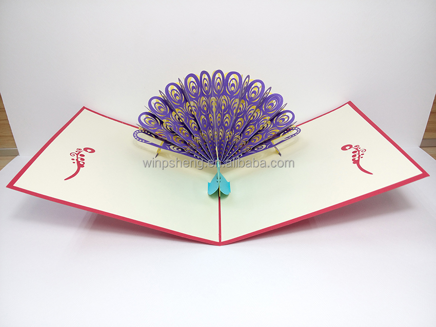 Laser cut pop up qulling art quilling card 3d quilling christmas card