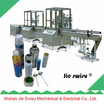 automatic aerosol dispenser air freshener filling line