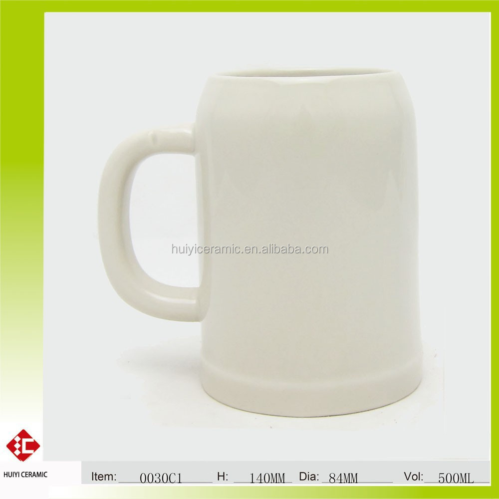 Hot Sale Hand Made and Relief Ceramic Beer Mug