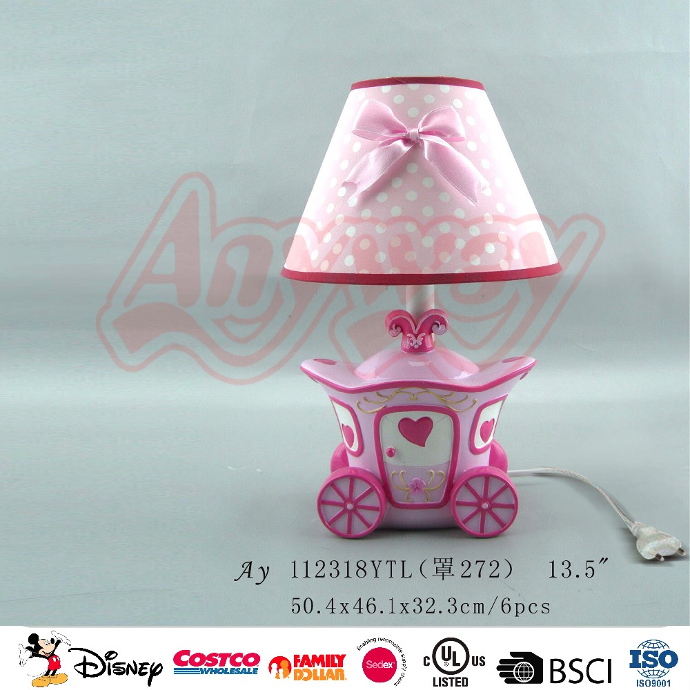 Portable sweet princess crown table lamp with photo frame