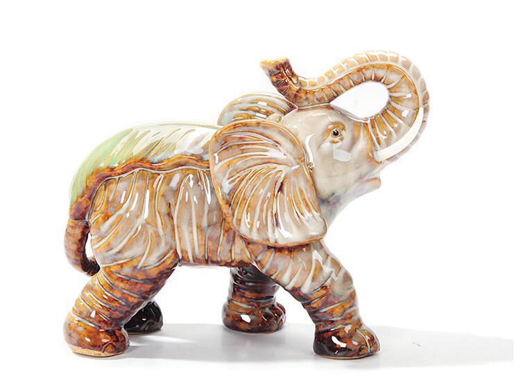 Moda moden design elefante Estatueta de cerâmica para decoração de casa