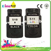 manufactured empty printer cartridge for canon pg 510/cl 511
