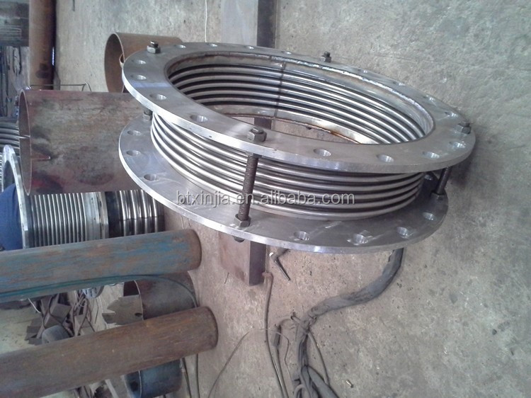 Metal corrugated expansion joint bellows compensator for