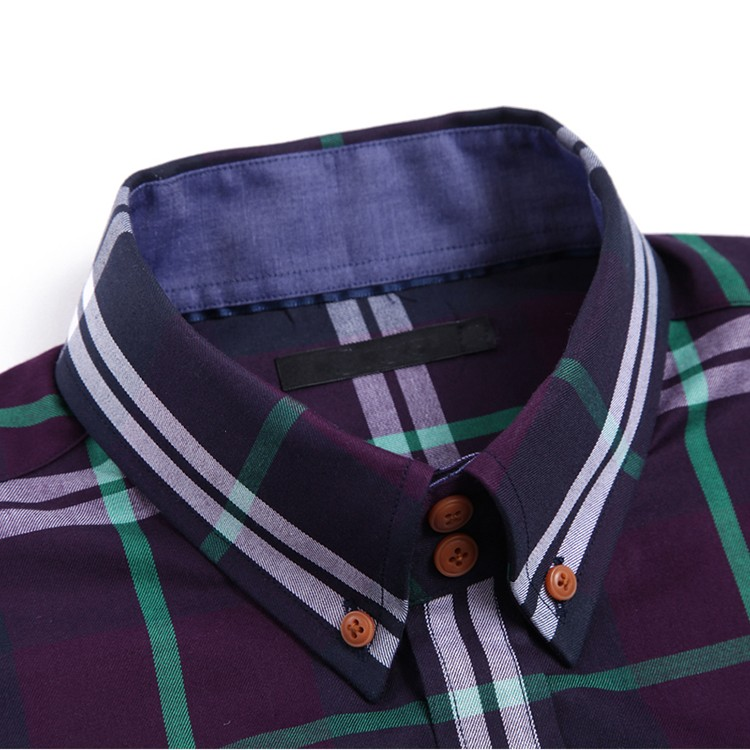 latest shirt designs for men 2016 fashion man cotton shirt casual grid man shirt