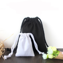 <strong>Black</strong> And White Cotton Packaging Bag For Gift