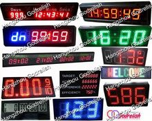 New design large number big digital led wall clock with low price