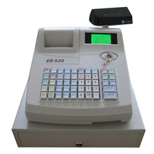 electronic cash register with 7-position mechanical keylock