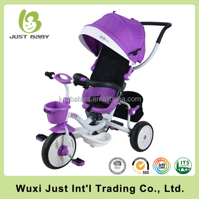 Baby ride on car tricycle bike with safety belt children car carrier walker 3 wheel baby bicycle tricycle
