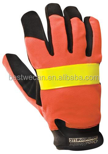 High Visibility Utility Work Gloves insulated glove for freezer or winter Road safety