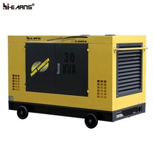 GF2-30KVA water-cooled silent type diesel generator with handle side picture