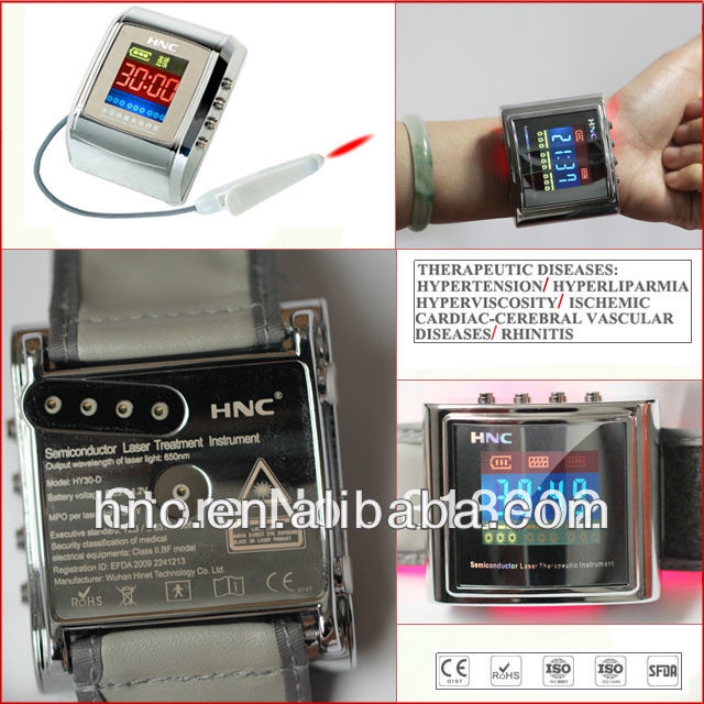 2014 new technolog 650nm low level laser treatment equipment to reduce blood fat Chinese traditional acupoint irradiation