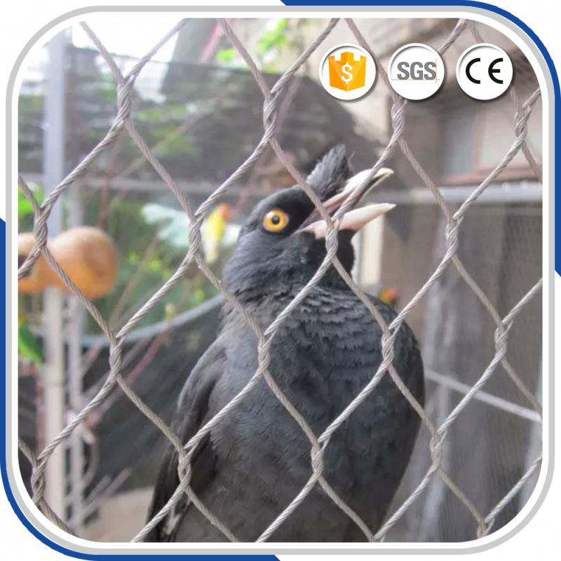 Stainless Steel Bird Netting Aviary Metal Wire Cable Zoo Mesh