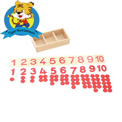 Wooden educational montessori materials for kindergarten and schools the cards and counters