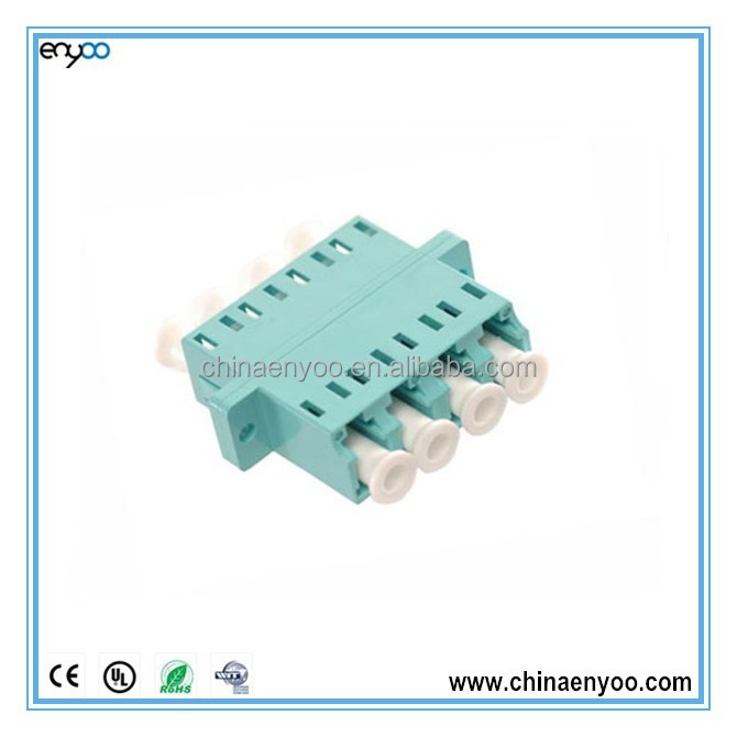 LC quad fiber optic adapter