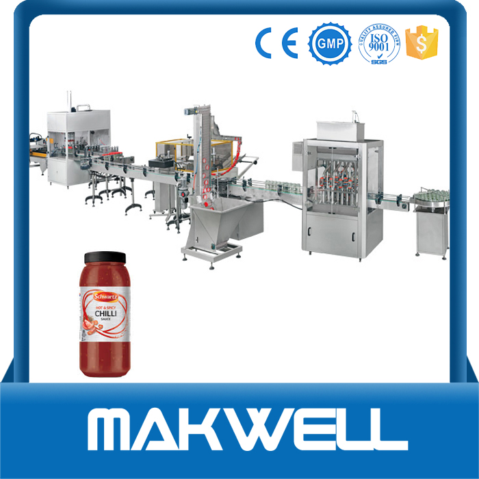sauce filing capping machine with high quality