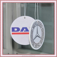 Hot sell printing car perfume paper fragrance air freshener with custom design