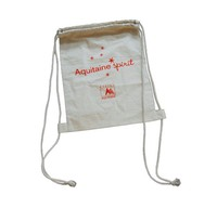 promotional good quality cotton /nylon/polyester drawstring gym bag with logo printed