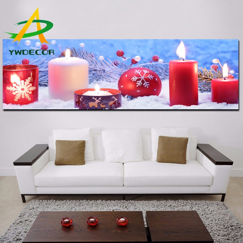 High Quality LED Canvas Painting Christmas Warmth Decor Wall Art Picture On Stretched Fabric With LED Light