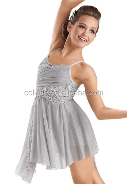 MB201516 Teen girl lyrical dress stage ballet latin competition dance costume