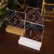 clear wedding table number decorative acrylic lucite wedding centerpieces