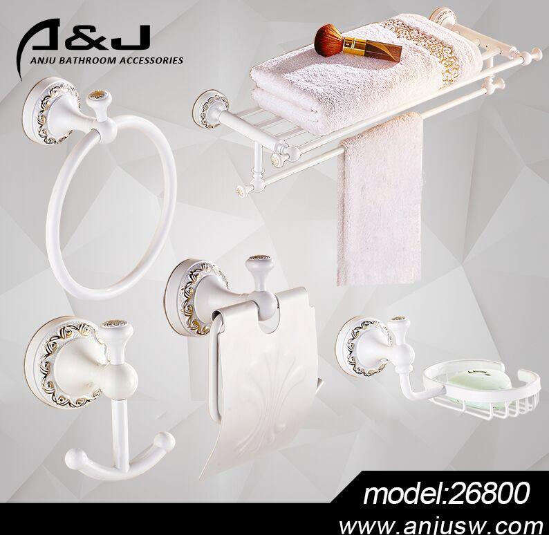 white bathroom accessory set bath hardware fitting sanitary