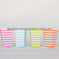 Striped Popcorn Boxes, Popcorn Favor Boxes (set of 6 - 3 each style) Ships Flat