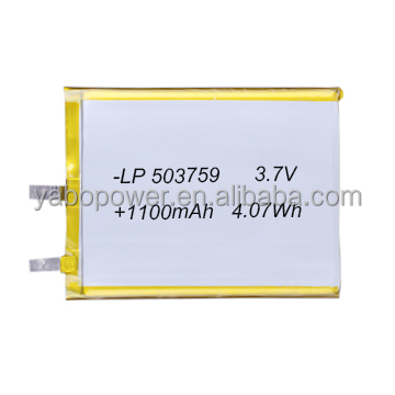 3.7v li polymer battery lipo battery 1100mah for power bank gps tracker mp3 mp4