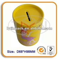 tin coin bank with moving lid