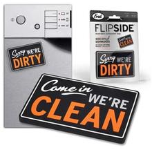 clean dirty dishwasher fridge magnet