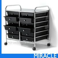 12 Black Plastic Drawer Organizer Cabinet