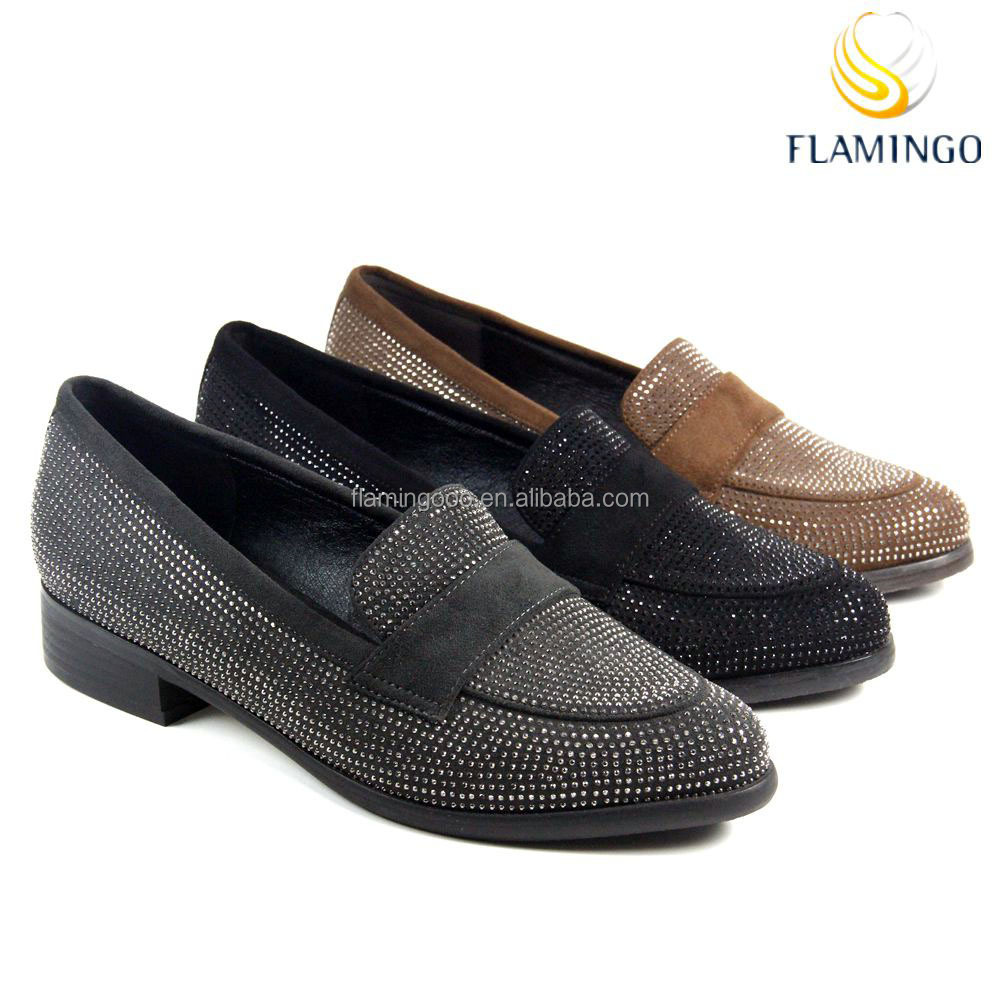FLAMINGO 2017 LATEST ODM OEM pictures of women beautiful ladies flat shoes