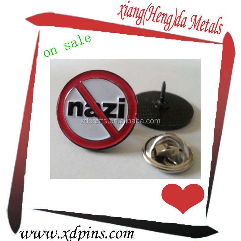 custom round soft enamel decoration lapel pin in Metal Crafts