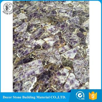 factory hot sales large amethyst slab prices made in China