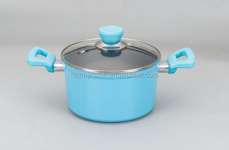 Fasion 24cm aluminium forged non stick cooking pot